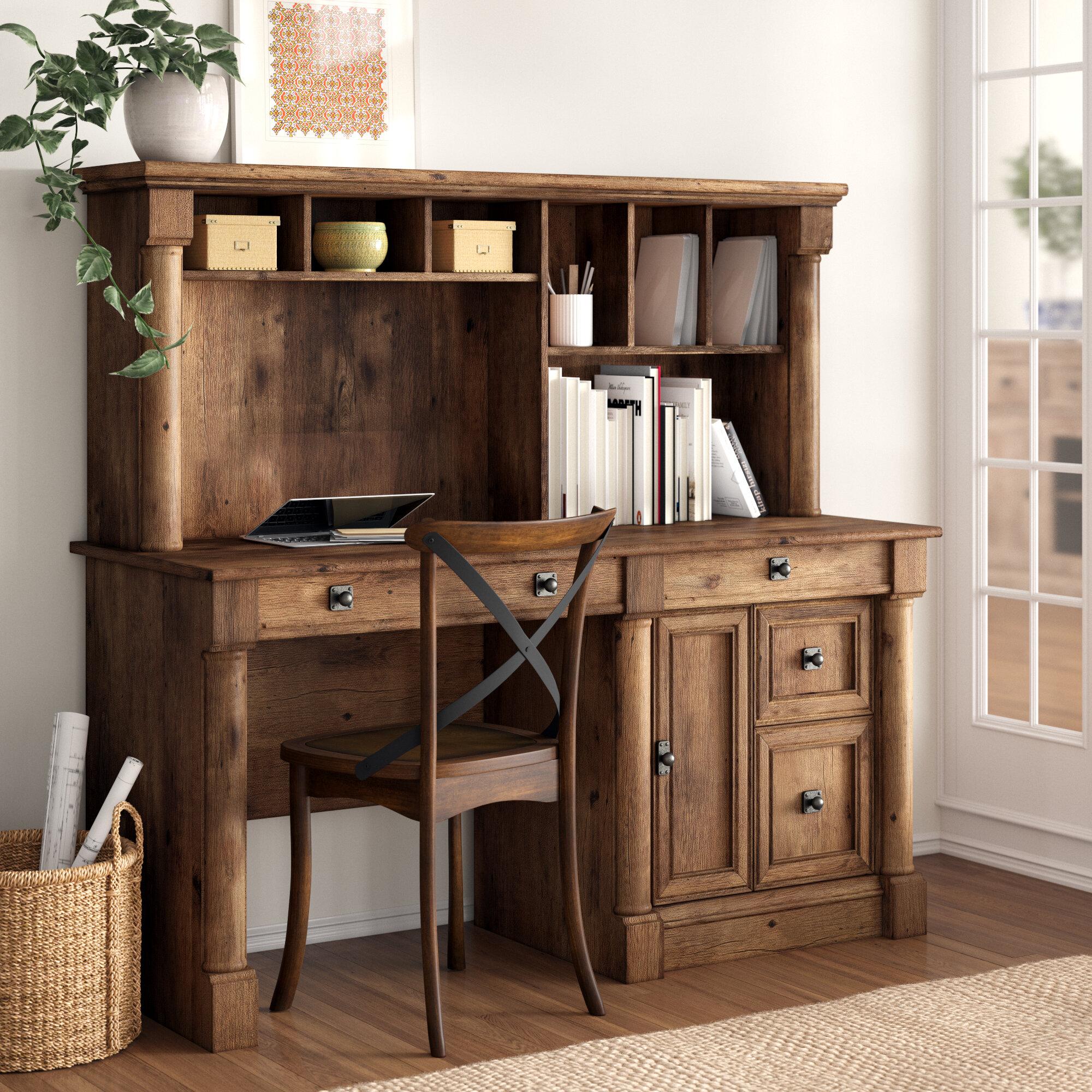 Three Posts™ Orviston Desk with Hutch & Reviews | Wayfair