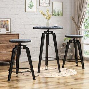 Affordable Dibble 3 Piece Adjustable Pub Table Set By Ebern Designs