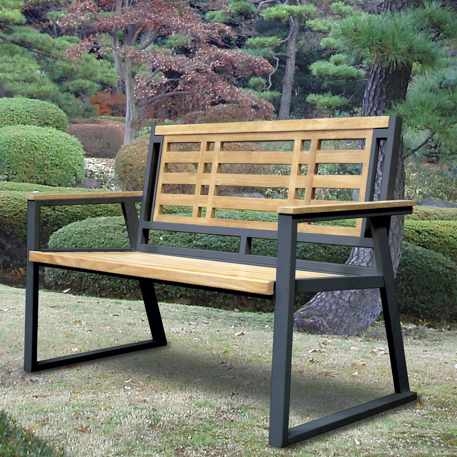 Asta Furniture Inc California Room Aegean Teak And Iron Park Bench Wayfair