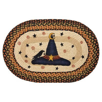 witch hat printed oval area rug