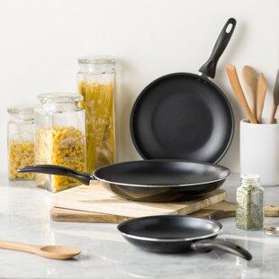 Wayfair Basics 3 Piece Nonstick Aluminum Frying Pan Set