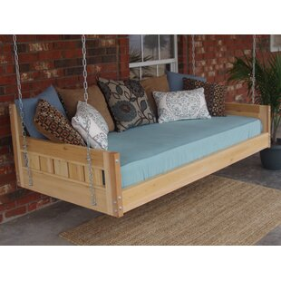 Thacker Cedar Country Style Hanging Daybed Swing by Loon Peak