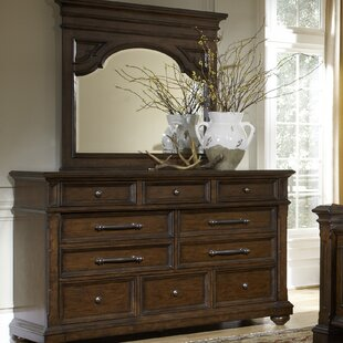 Darby Home Co Heldt 2 Drawer Dresser with Mirror