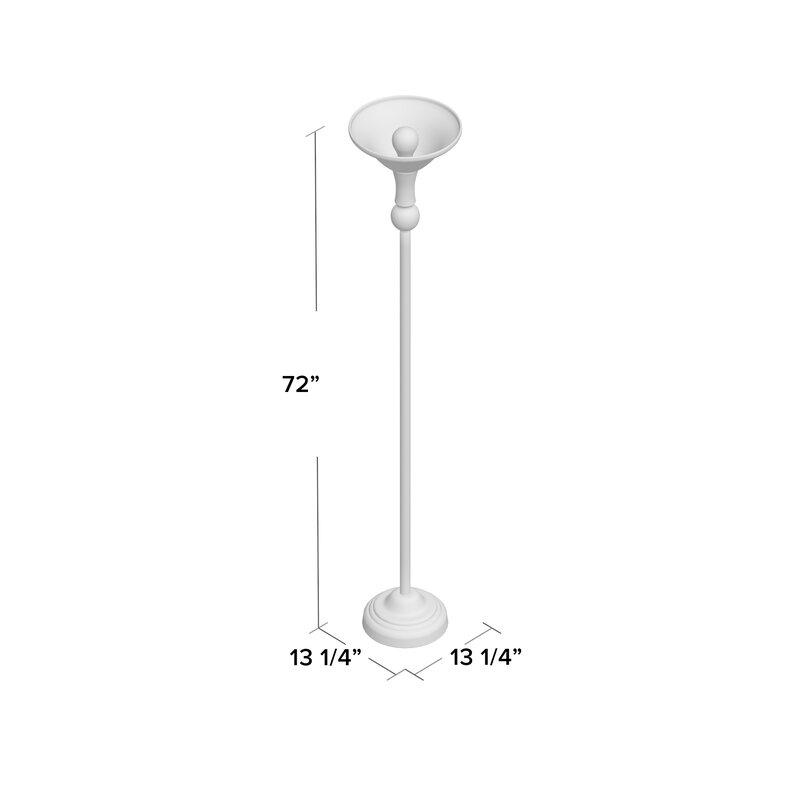 Krauss 3 way 72 torchiere floor lamp