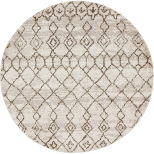 Leonid Beige/Brown Area Rug by Bungalow Rose
