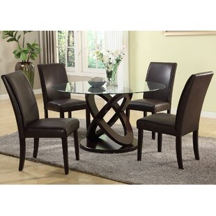 Roundhill Furniture Cicicol 5 Piece Dining Set