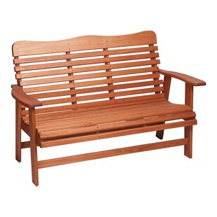 Red Grandis Wood Garden Bench
