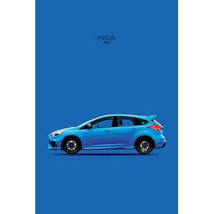 'Ford Focus RS' Graphic Art Print on Canvas By East Urban Home
