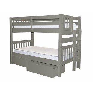 Inexpensive Treva Twin over Twin Bunk Bed with Storage by Harriet Bee Reviews (2019) & Buyer's Guide