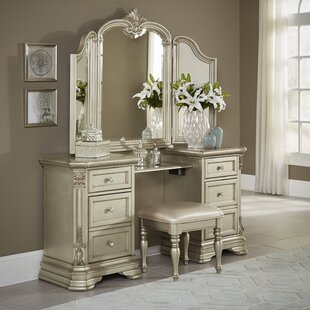 Erika Vanity with Mirror by Astoria Grand
