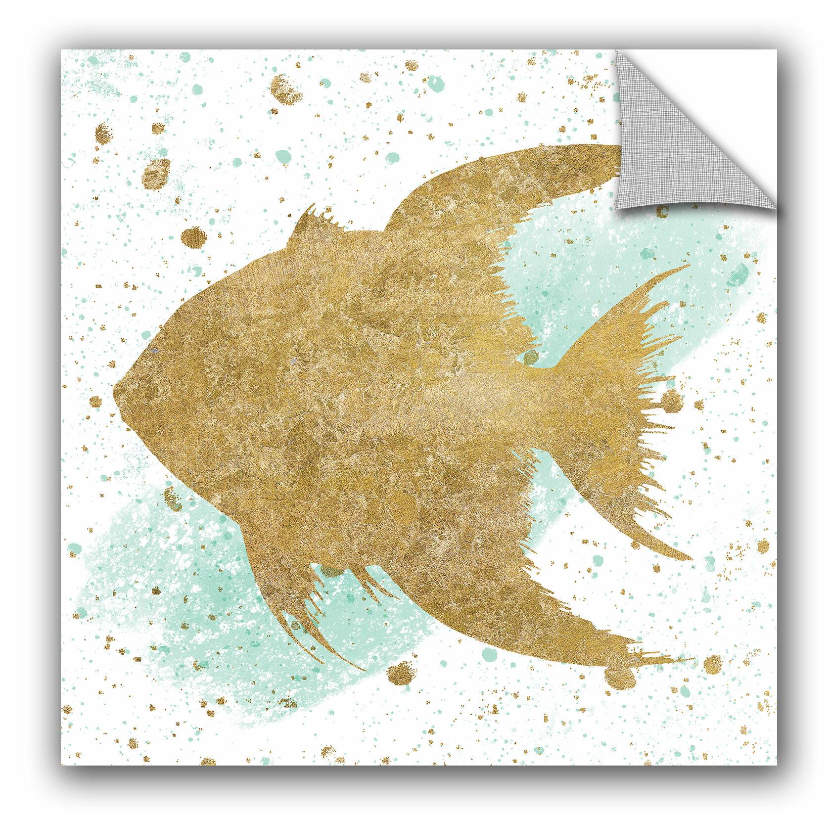 Highland Dunes Silver Sea Life Aqua Fish Removable Wall Decal Wayfair