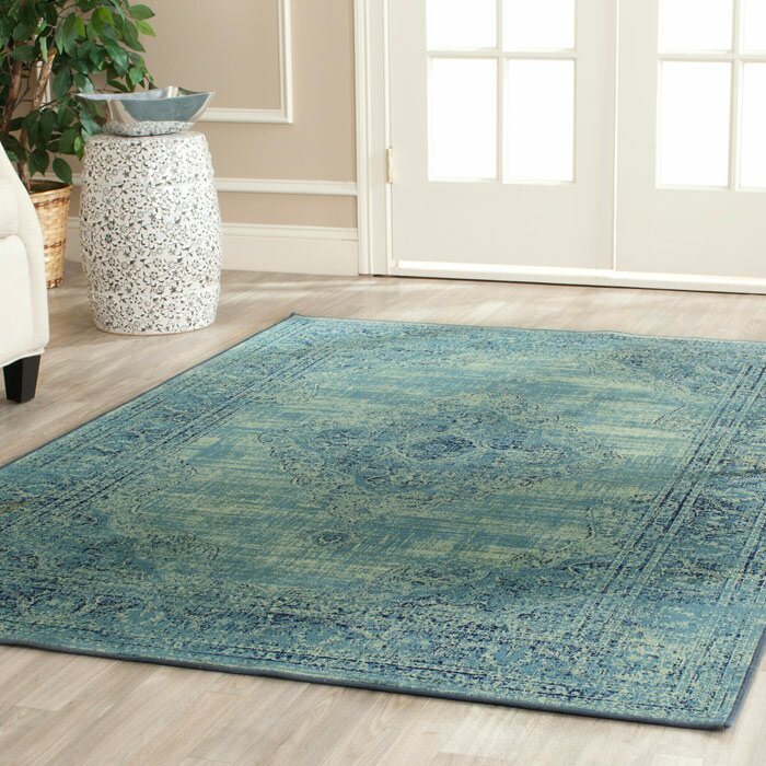orders rug indoor garden teal and over green shipping free home product on area stylehaven ivory overstock floral
