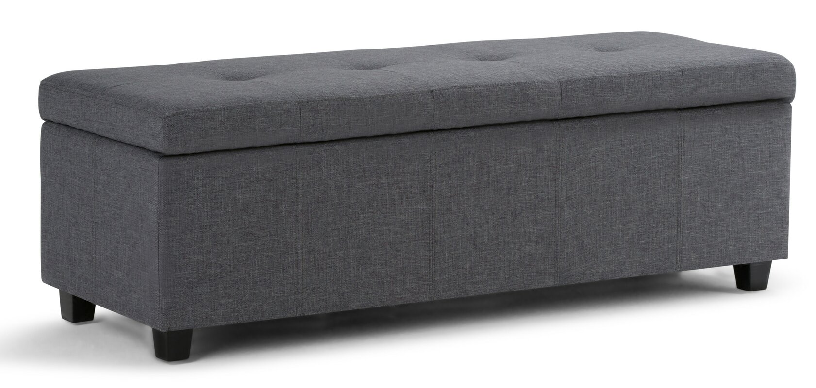 simpli home castleford upholstered storage bench  reviews  wayfair - defaultname