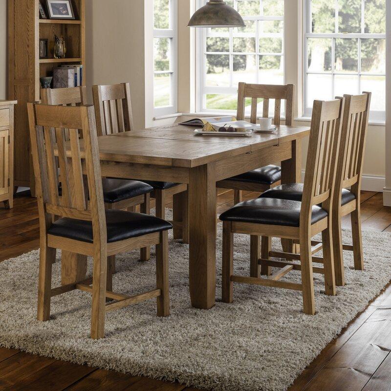 all home essgruppe oliver mit ausziehbarem tisch und 6 st hlen bewertungen. Black Bedroom Furniture Sets. Home Design Ideas