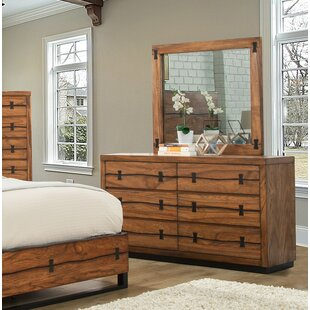 Loon Peak Ricker 6 Drawer Dresser with Mirror