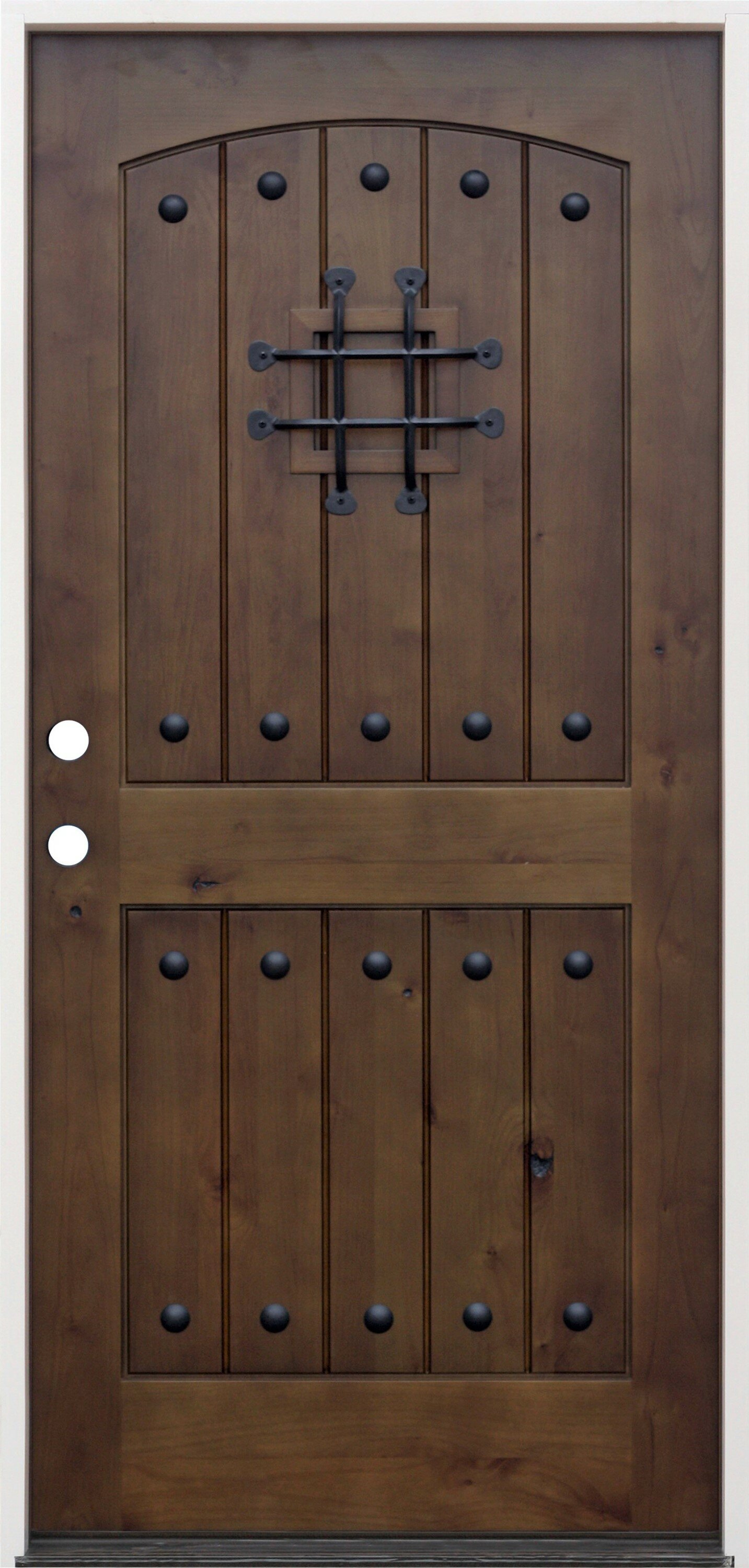 CreativeEntryways Rustic 2-Panel V-Groove Ready to Install Wood Prehung Front Entry Door | Wayfair & CreativeEntryways Rustic 2-Panel V-Groove Ready to Install Wood ...