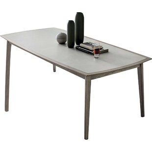 Bloom Rectangular Solid Wood Dining Table by YumanMod Top Reviews