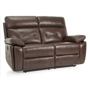 Krafton Leather Reclining Loveseat by Red..