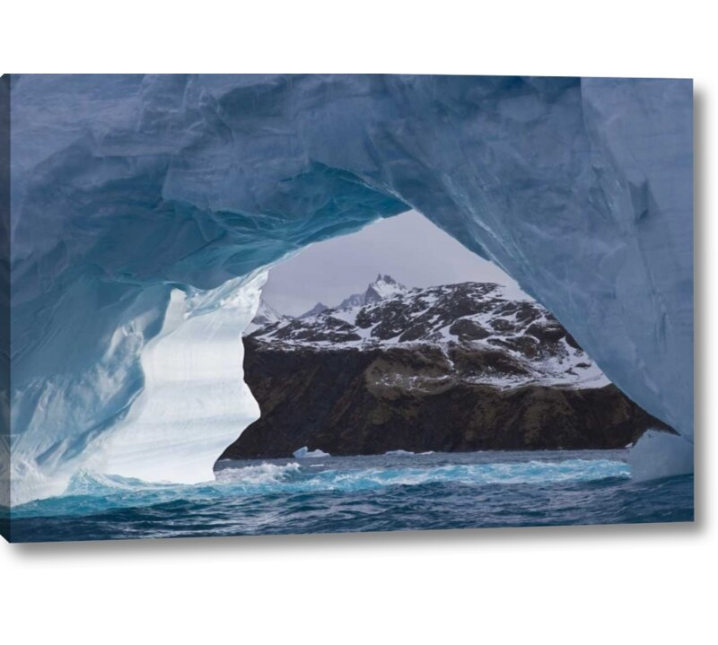World Menagerie South Georgia Island Iris Bay Iceberg Arch Photographic Print On Wrapped Canvas Wayfair