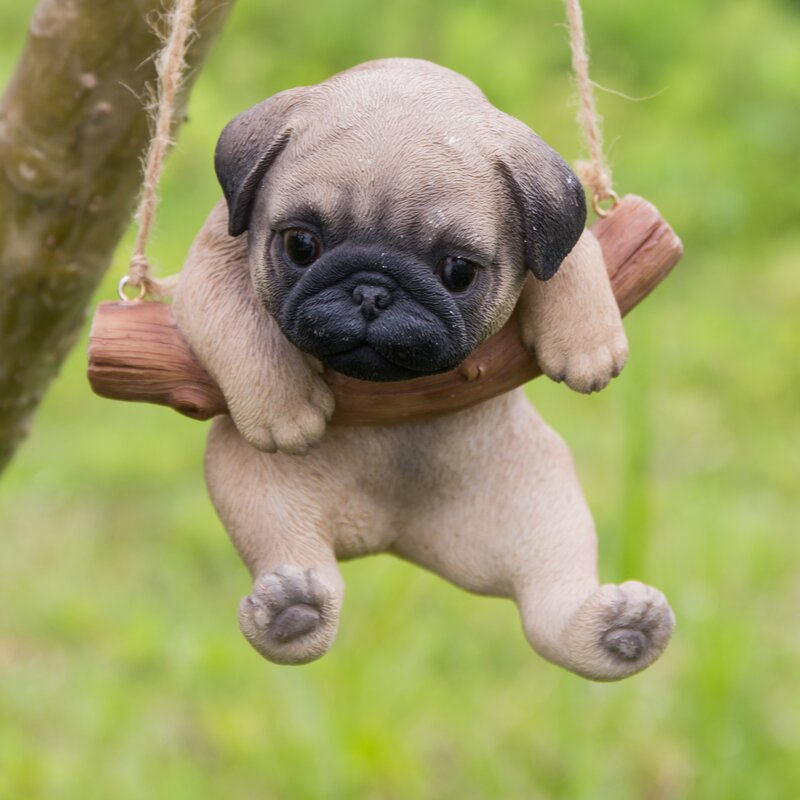 Hanging+Pug+Puppy+Statue