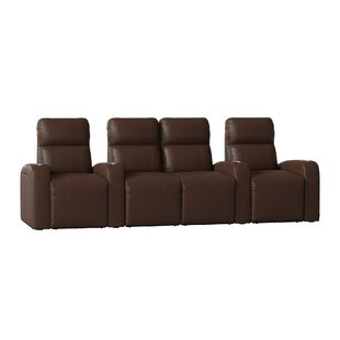 Home Theater Row Seating with Chaise Footrest (Row of 4) Latitude Run