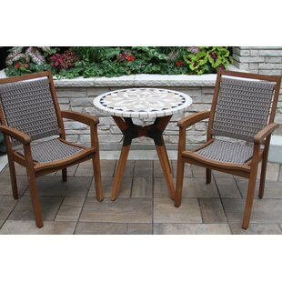 Rhett Round 3 Piece Bistro Set