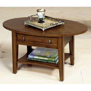 Solid Wood Coffee Table with Storage by Wildon Home