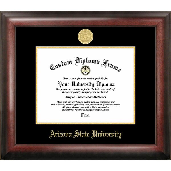 Campus Images Ncaa Arizona State Sun Devils Gold Embossed Diploma Frame Reviews Wayfair