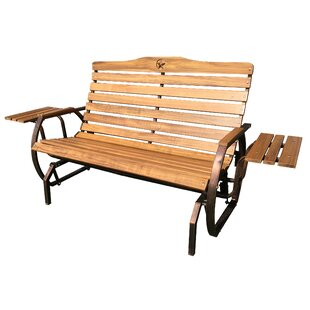 Leigh Country Iron Grove Slatted Glider Bench
