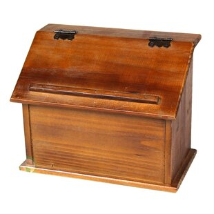 Clearance Old Wooden Podium Recipe Box ByQuickway Imports