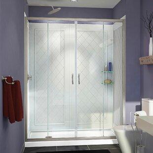 Visions 60 x 30 x 76.75 Sliding Frameless Shower Door by DreamLine