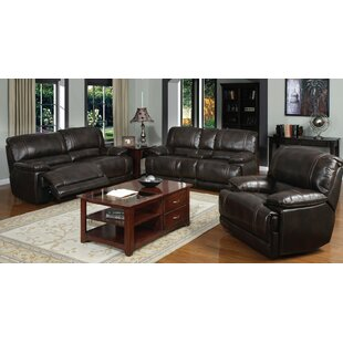 Ryland Reclining 3 Piece Living Room Set by
