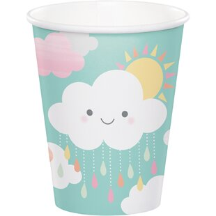 Clouds Paper Disposable Cup (Set of 24)