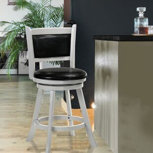 Nacomia 24 Swivel Bar Stool by Winston Porter