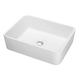 Shop for Ceramic Rectangular Vessel Bathroom Sink ByDawn USA