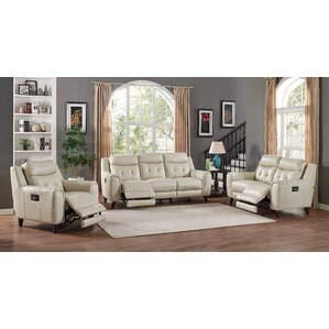 Paramount Leather 3 Piece Living Room Set by HYDELINE BY AMAX