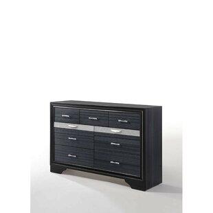 Shows Wooden 9 Drawer Double Dresser by Orren Ellis