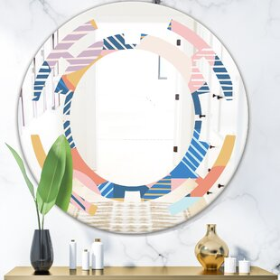 Space Trendy Geometry Shapes Pattern Modern Frameless Wall Mirror by East Urban Home