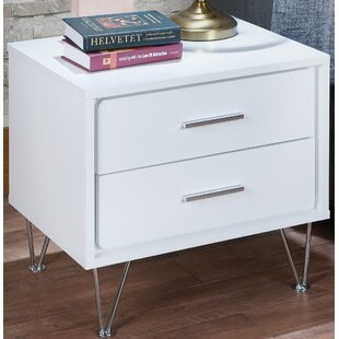 House of Hampton Luther 2 Drawer Nightstand