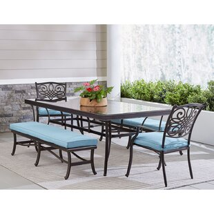 Carleton Outdoor 5 Piece Dining Set