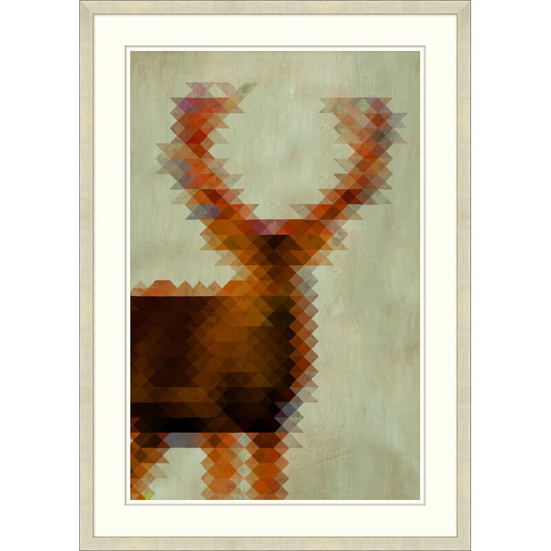 Providence Art Geometric Stag 1 Picture Frame Graphic Art Print On Paper Perigold
