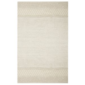 Triangle Sweater Hand-Knotted Natural Area Rug