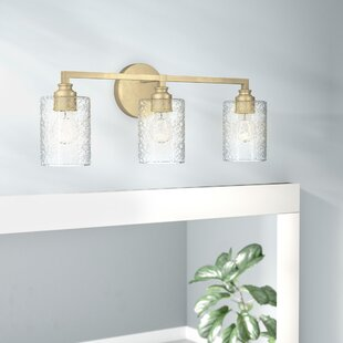 Tera 3-Light Vanity Light with Iced Glass By Mercer41