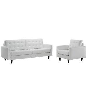white living room set. Warren 2 Piece Living Room Set Modern White Sets  AllModern