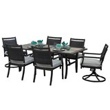 Dreher 7 Piece Sunbrella Dining Set with Cushions