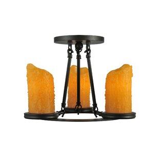 Meyda Tiffany Carpathian 3-Light Semi-Flush Mount