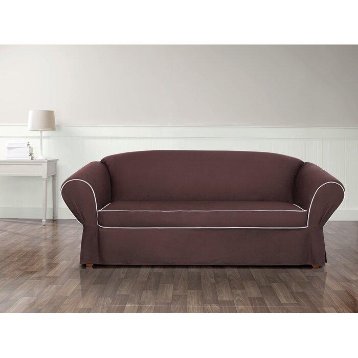 Tailored Box Cushion Sofa Slipcover
