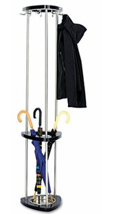 Safco Products Company Mode Wood Coat Rack with Umbrella Rack
