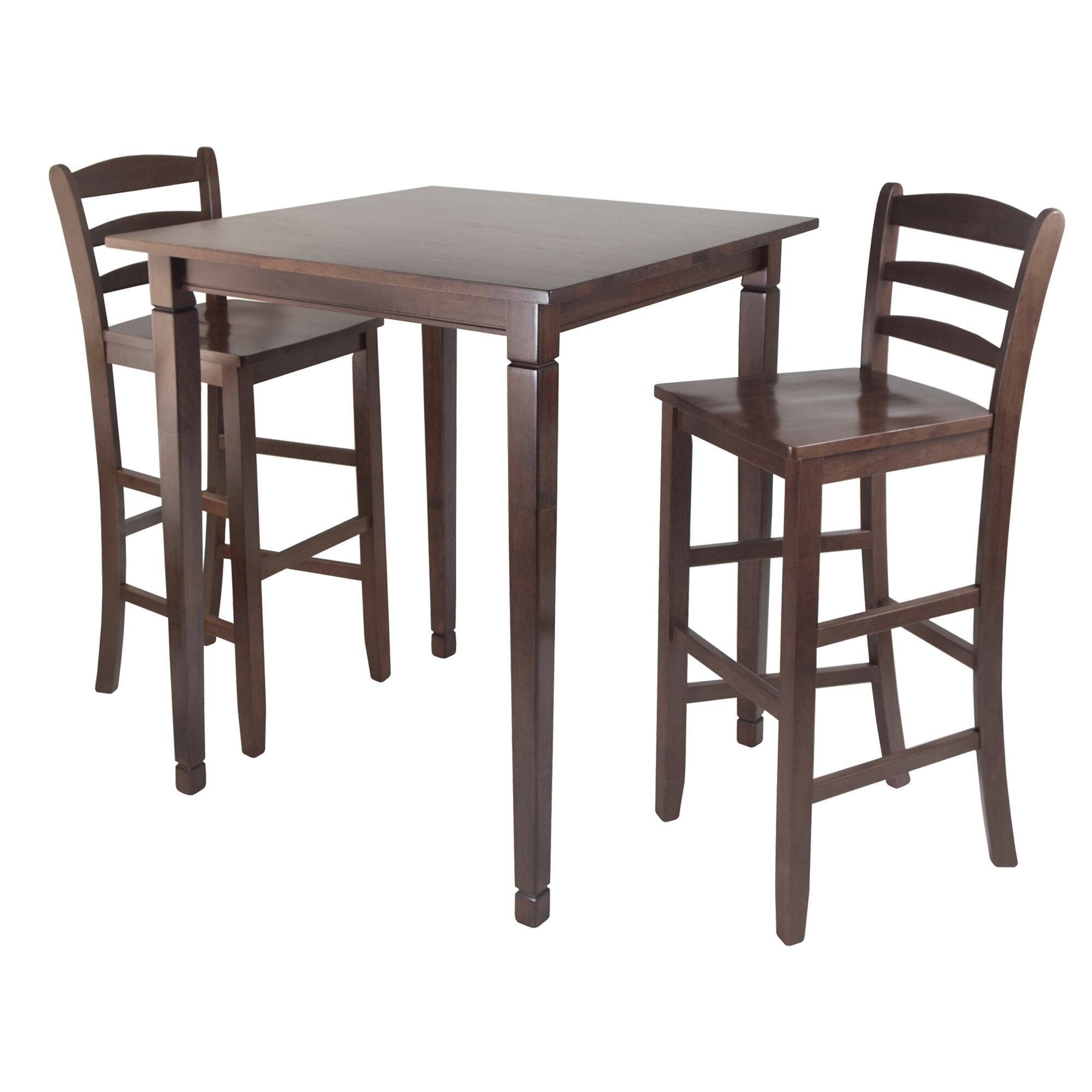 Red Barrel Studio Hemphill 3 Piece Counter Height Pub Table Set Reviews Wayfair