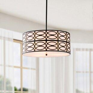 Ebern Designs Payeur 3-Light Drum Chandelier